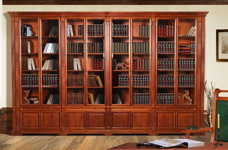 Шкаф библиотека фото
